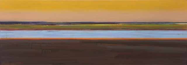 Schilderij Helmuth van Galen Buitenruimte nr.4-6  ∙ 60 x 170 cm ∙ 2011 ∙ acryl/linnen