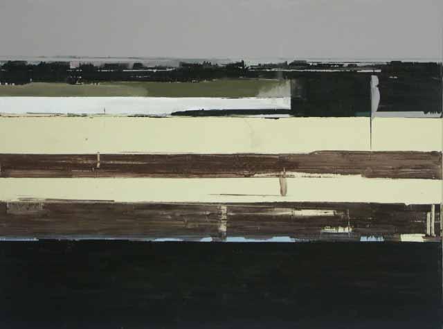 Schilderij Helmuth van Galen Buitenruimte I ∙ 150 x 200 cm ∙ 2001 ∙ acryl/linnen