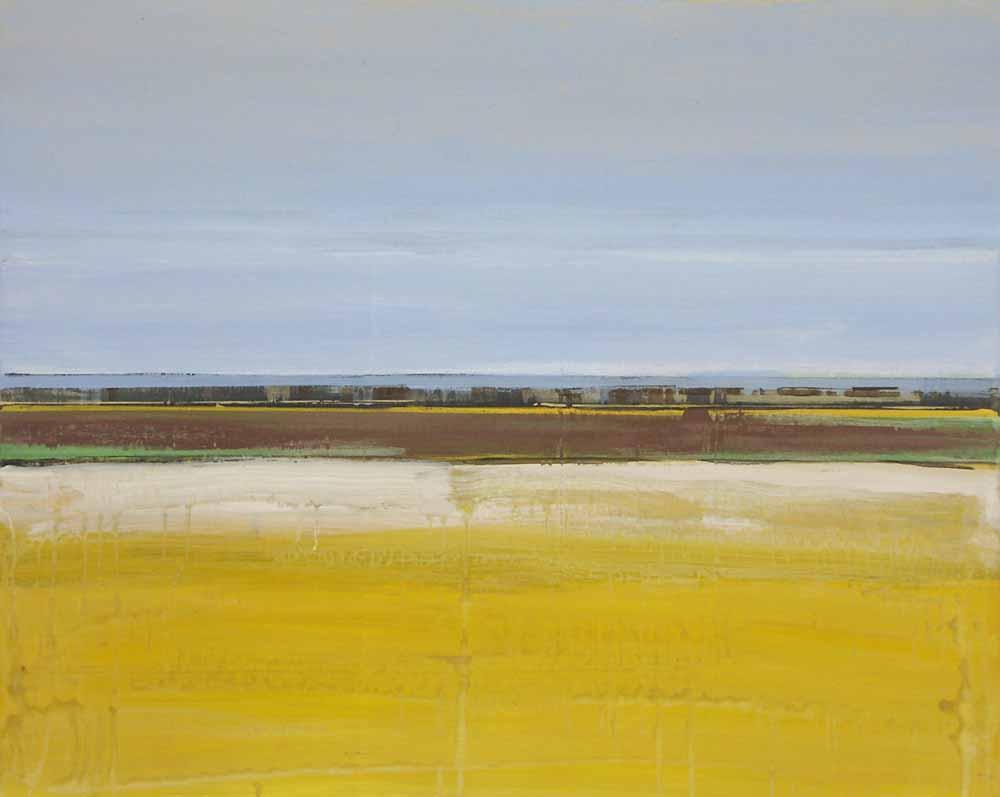 Schilderij Helmuth van Galen Buitenruimte VI ∙ 80 x 100 cm ∙ 2005 ∙ acryl/linnen ∙ Particulier bezi