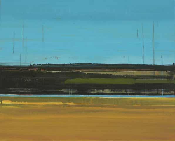 Schilderij Helmuth van Galen Buitenruimte IV ∙ 80 x 100 cm ∙ 2006 ∙ acryl/linnen ∙ Particulier bezit
