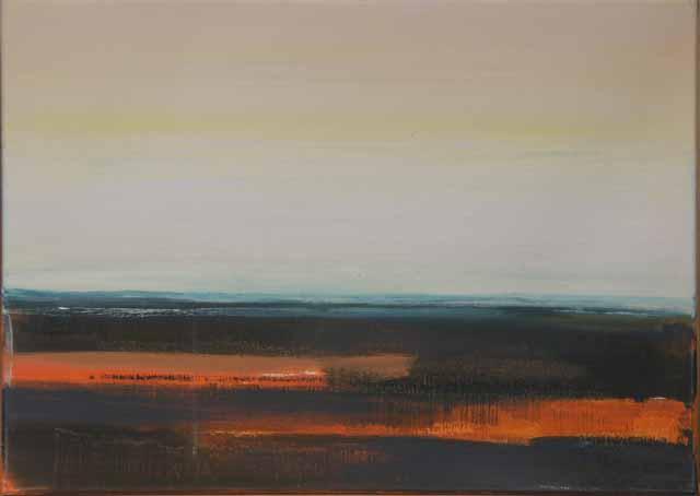 Schilderij Helmuth van Galen Buitenruimte nr.5-3 ∙ 50 x 70 cm ∙ 2007 ∙ acryl/linnen ∙ Particulier bezit