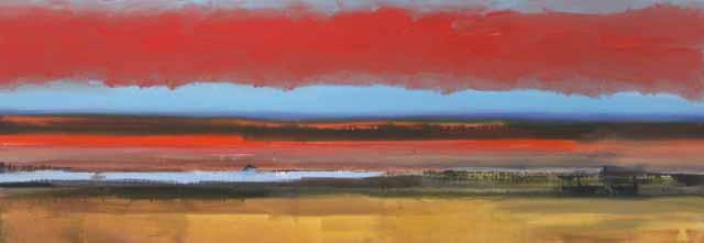 Schilderij Helmuth van Galen Buitenruimte nr.5-1 ∙ 60 x 170 cm ∙ 2008 ∙ acryl/linnen ∙ Particulier bezit