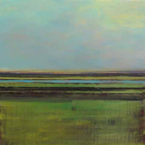 Schilderij Helmuth van Galen Buitenruimte ∙175 x 175 cm ∙ 2011 ∙ acryl/linnen ∙ Particulier bezit