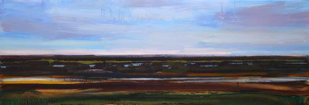 Schilderij Helmuth van Galen Buitenruimte nr.1-2 ∙ 60 x 170 cm ∙ 2015 ∙ acryl/linnen