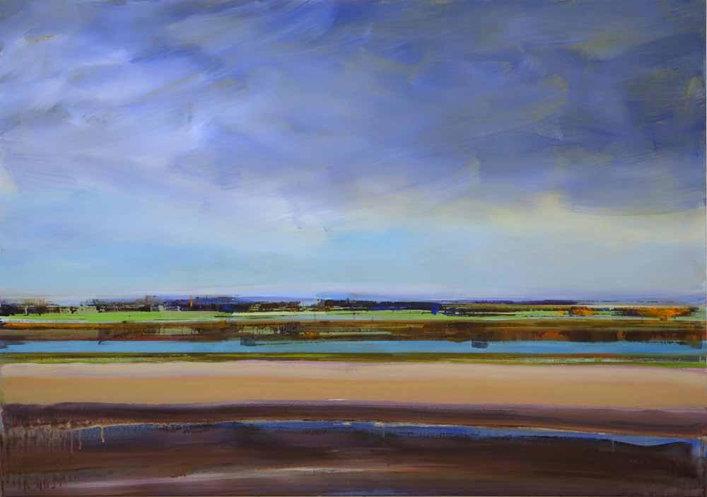Schilderij Helmuth van Galen Buitenruimte nr.1-4 ∙ 120 x 170 cm ∙ 2015 ∙ acryl/linnen