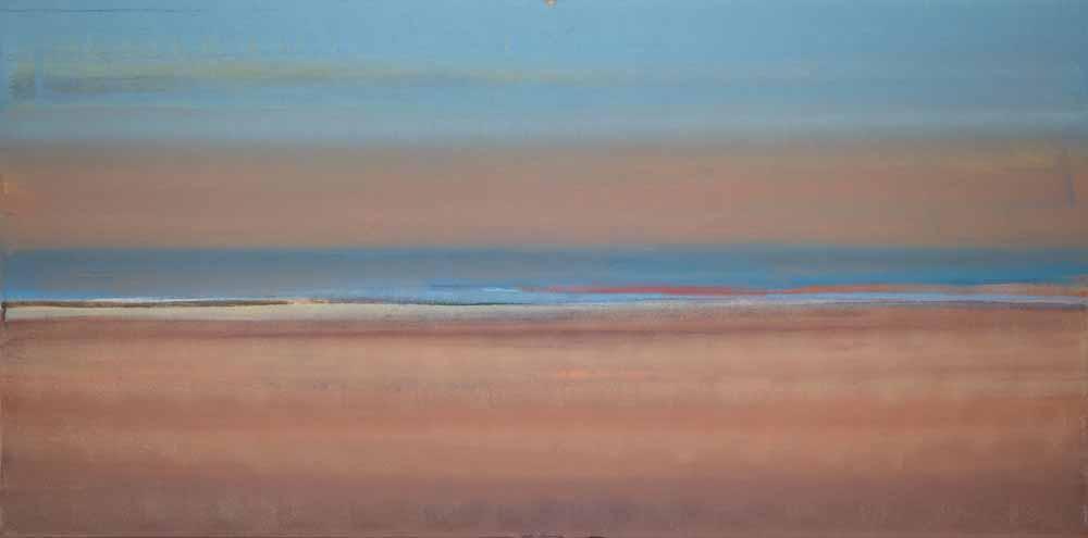 Schilderij Helmuth van Galen Buitenruimte I ∙70 x 160 cm ∙ 2016 ∙ acryl/linnen
