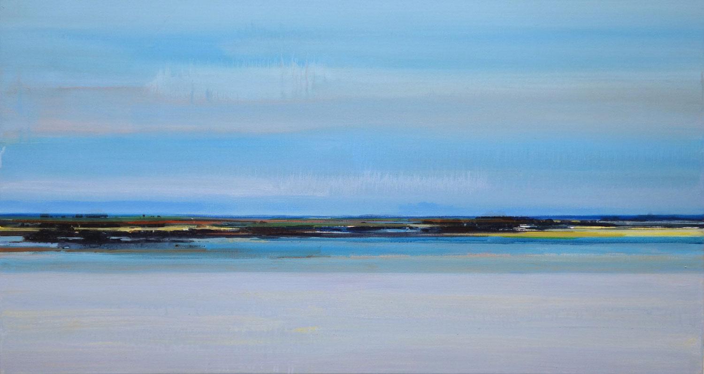 landschap, water, zee, weids, blauw
