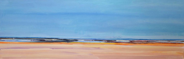 water, strand, zee, rotsen, blauw, beige, warme kleuren