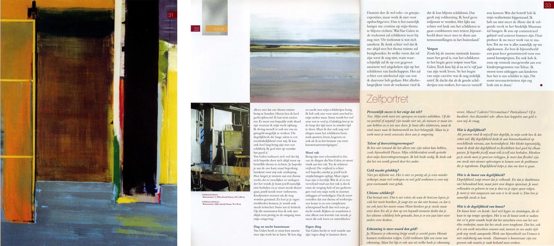 2003, interview in blad van Staalbankiers, tentoonstelling Binnenruimte en Buitenruimte in Haarlem en Amsterdam