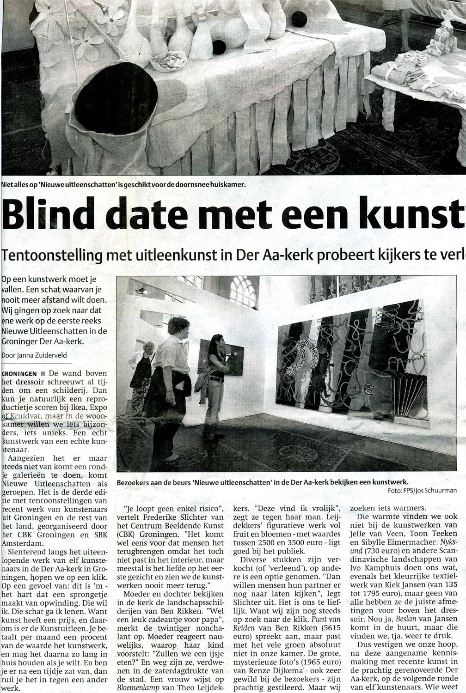 """Recensie """"Nieuwe Uitleenschatten"""", 25-9-2006, Der Aa-kerk Groningen, Helmuth van Galen"""