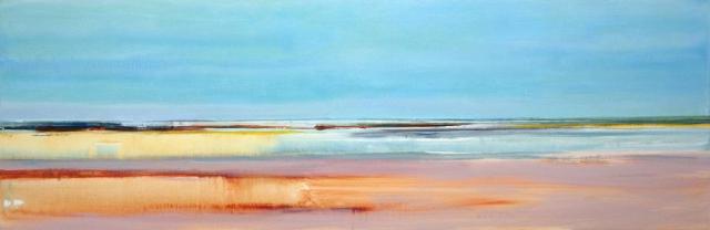 zee, blauw, zand, warm, fris, kleurig, abstract, Helmuth van Galen