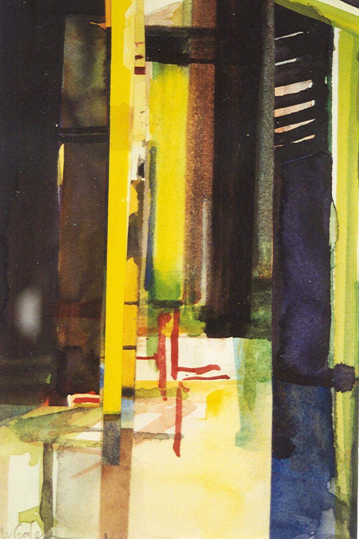 Schilderij Helmuth van Galen Binnenruimte a-20 ∙14x21 cm ∙ aquarel ∙ 1999 ∙ Particulier bezit