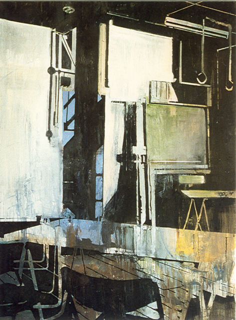Schilderij Helmuth van Galen Binnenruimte I ∙150x200 cm ∙ olieverf/linnen ∙ 1996 ∙ CBK Dordrecht