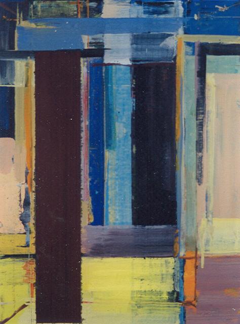 Schilderij Helmuth van Galen Binnenruimte IX ∙ 30x40 cm ∙ acryl op linnen ∙ 1998 ∙  Particulier bezit