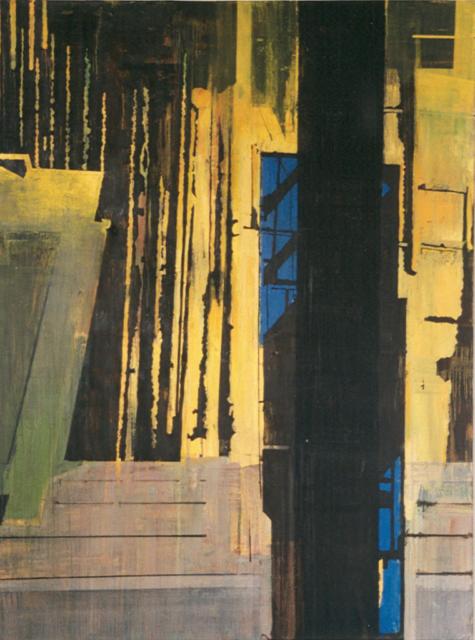 Schilderij Helmuth van Galen Binnenruimte ∙ 150x200 cm ∙ olieverf/linnen ∙ 1997 ∙ Gemeente Haarlem