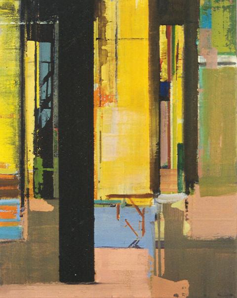 Schilderij Helmuth van Galen Binnenruimte 40x50 cm ∙acryl op linnen ∙ 1999 ∙ CBK Utrecht