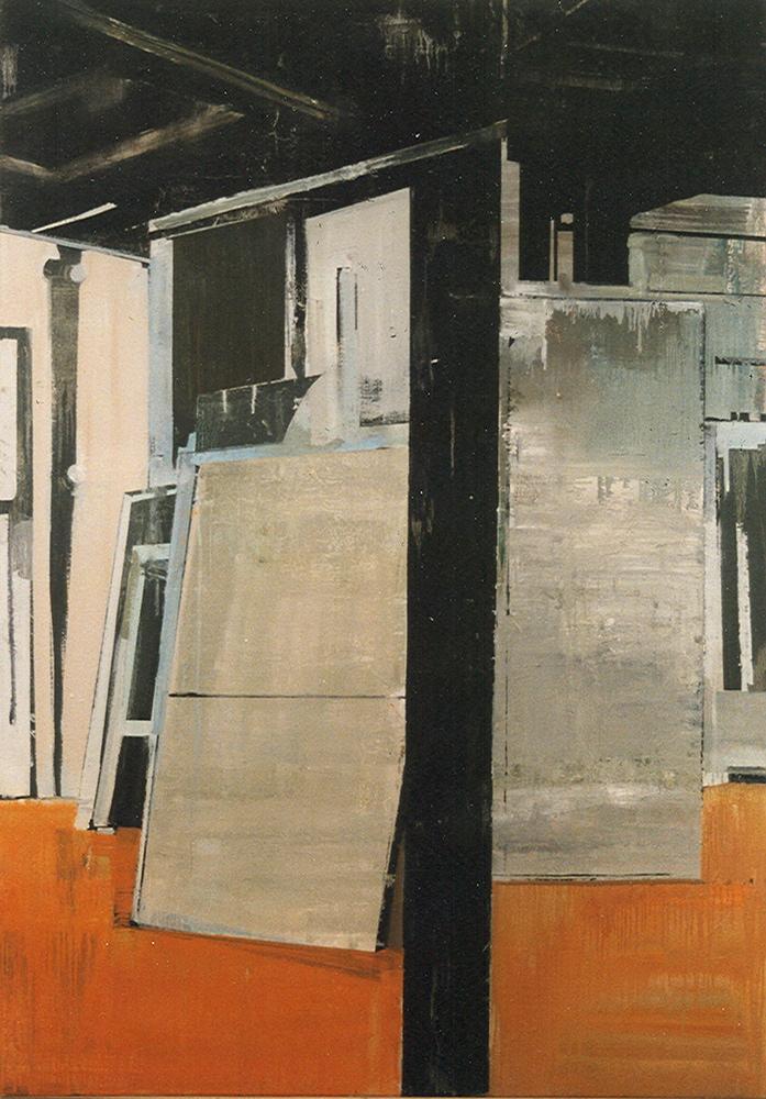 Schilderij Helmuth van Galen Binnenruimte ∙ 128x180 cm ∙ olieverf/linnen ∙ 1999 ∙ Particulier bezit