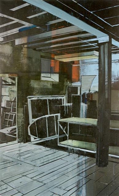 Schilderij Helmuth van Galen Binnenruimte ∙ 105x170 cm ∙ olieverf/linnen ∙ 1996 ∙ CBK Dordrecht