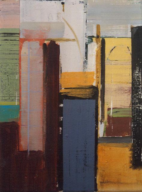 Schilderij Helmuth van Galen Binnenruimte nr. 2-2 ∙ 30x40 cm ∙ acryl op linnen ∙ 2001 ∙ Particulier bezit