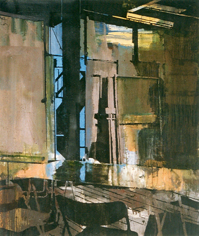 Schilderij Helmuth van Galen Binnenruimte  IV ∙ 85x100 cm ∙ olieverf/linnen ∙ 1997 ∙ Gemeente Utrecht