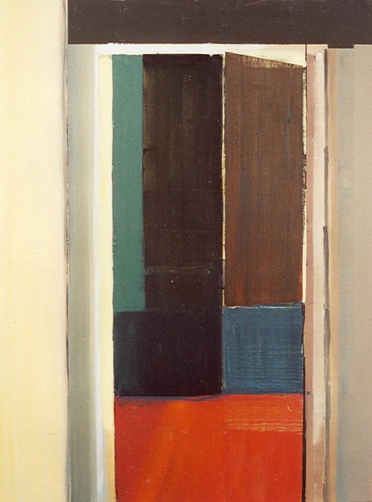 Schilderij Helmuth van Galen Binnenruimte NZI ∙ 150x200 cm ∙ acryl op linnen ∙ 2001 ∙ Bureau DM Haarlem