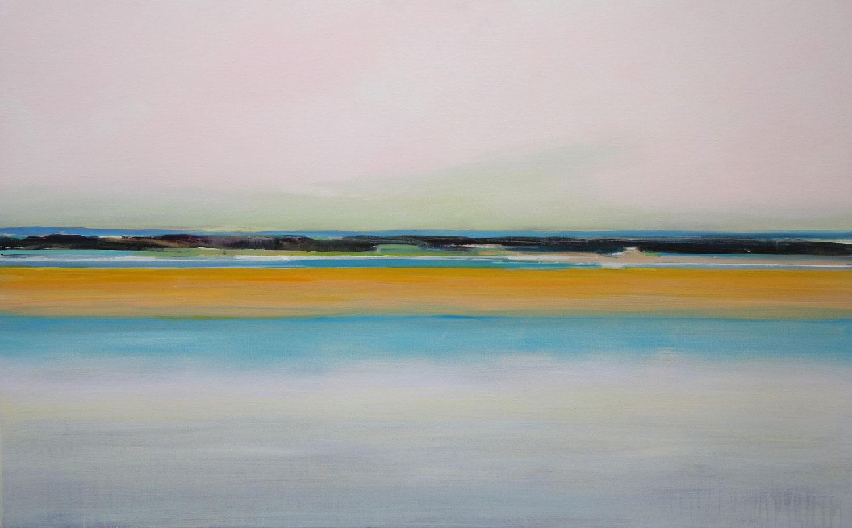 water, zee, lucht, duinen, sfeer, warme kleuren, geel, oranje, blauw, landschap