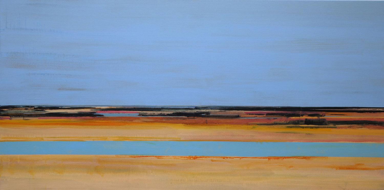 blauw, lucht, water, warme kleuren, oker, bruin, rode kleuren, abstract