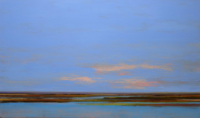 landschap, blauw, wolken, romantisch, warme kleuren, bruin,