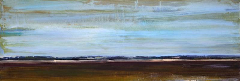 Schilderij Helmuth van Galen Buitenruimte nr.3-2 ∙ 60 x 170 cm ∙2015 ∙ acryl/linnen ∙ Particulier bezit